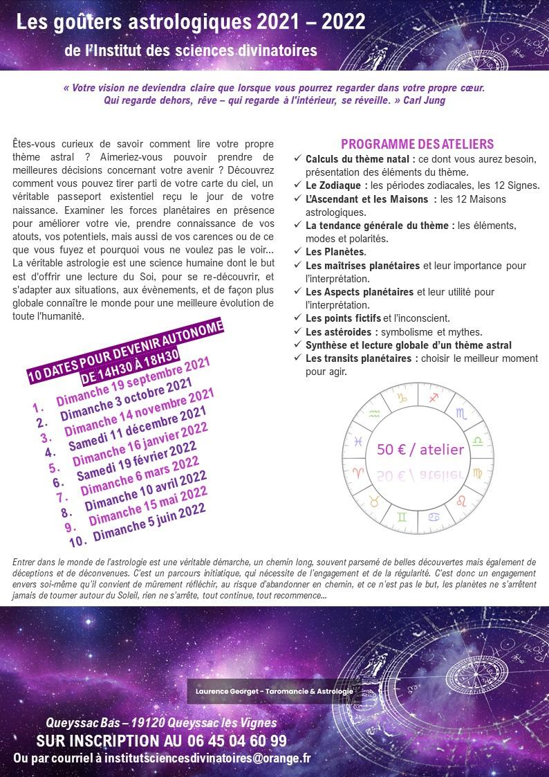 Les gouters astrologiques 2021 2022