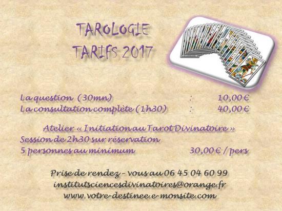 Tarifs tarologie 1